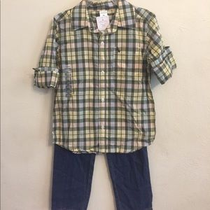 Carters new with tags 3/4 sleeve fall outfit